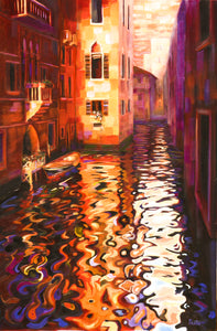 Reflections of Venice - Original oil on canvas 24x36in