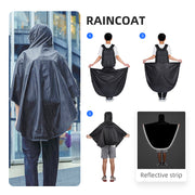 Rain cloak on Mark Ryden Limit anti-theft usb charging backpack.