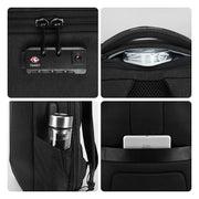 Special features of Mark Ryden Cache USB Charging backpack in black.