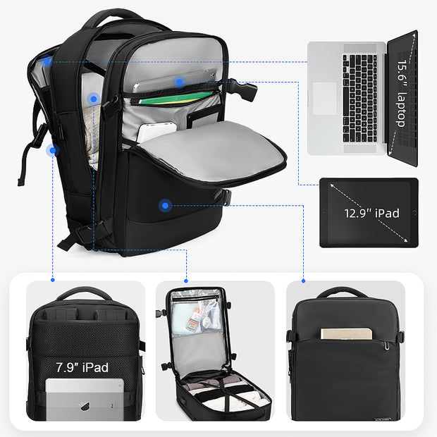 Features of Mark Ryden Nomad usb charging travel backpack.
