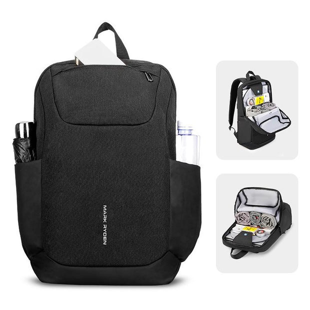 Mark Ryden Canada packet, black smart laptop backpack