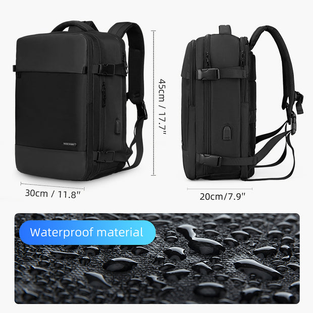 Waterproof Mark Ryden Nomad usb charging travel backpack.