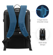 Straps on Mark Ryden Infinity XL Rain usb charging business / travel backpack.
