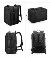 Different views of Mark Ryden Infinity XL Rain usb charging business / travel backpack.