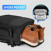Shoe pocket on Mark Ryden Nomad usb charging travel backpack.