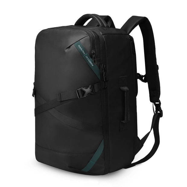 Mark Ryden high capacity waterproof USB charging travel backpack.