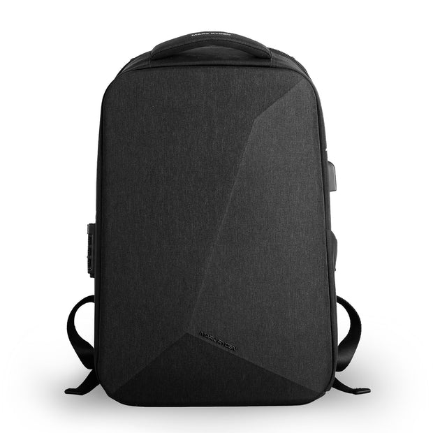 Mark Ryden Cache USB Charging backpack in black.