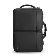 Mark Ryden minimal black USB charging travel shoulder bag.