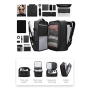 Contents of Inside of Mark Ryden expandable travel backpack - INFINITY XL.