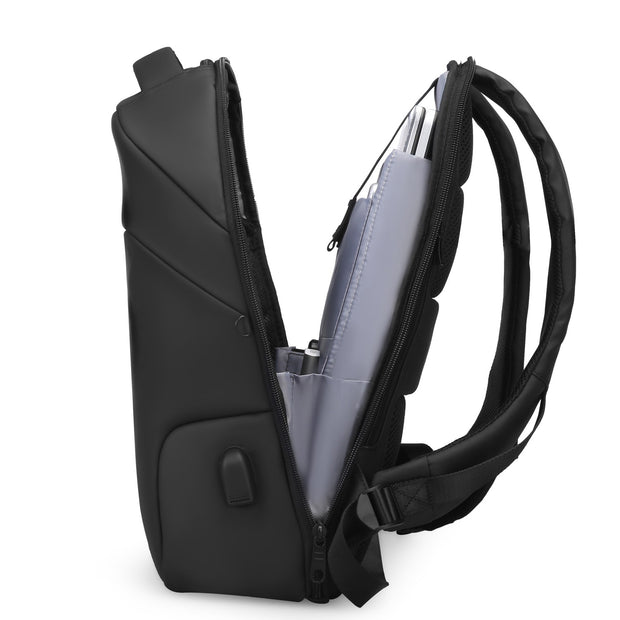 Open view of Mark Ryden Limit anti-theft usb charging backpack.