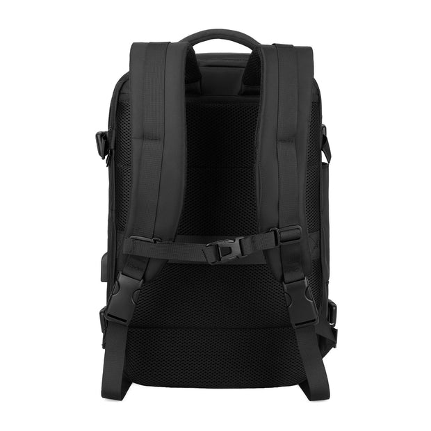 Back view of Mark Ryden Nomad usb charging travel backpack.
