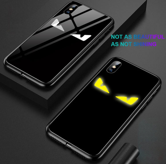 Devil Eye Tempered Glass Phone Case For iphone X/XS/XR/XS Max/7/8/7 Plus/8 Plus