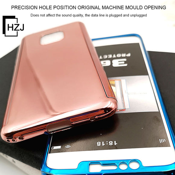 Applicable Huawei series mobile phone case 2019 plating 360PC Huawei P20 / P20Lite / P20Pro / P30 / P30Lite / P30Pro series mirror protective cover all inclusive