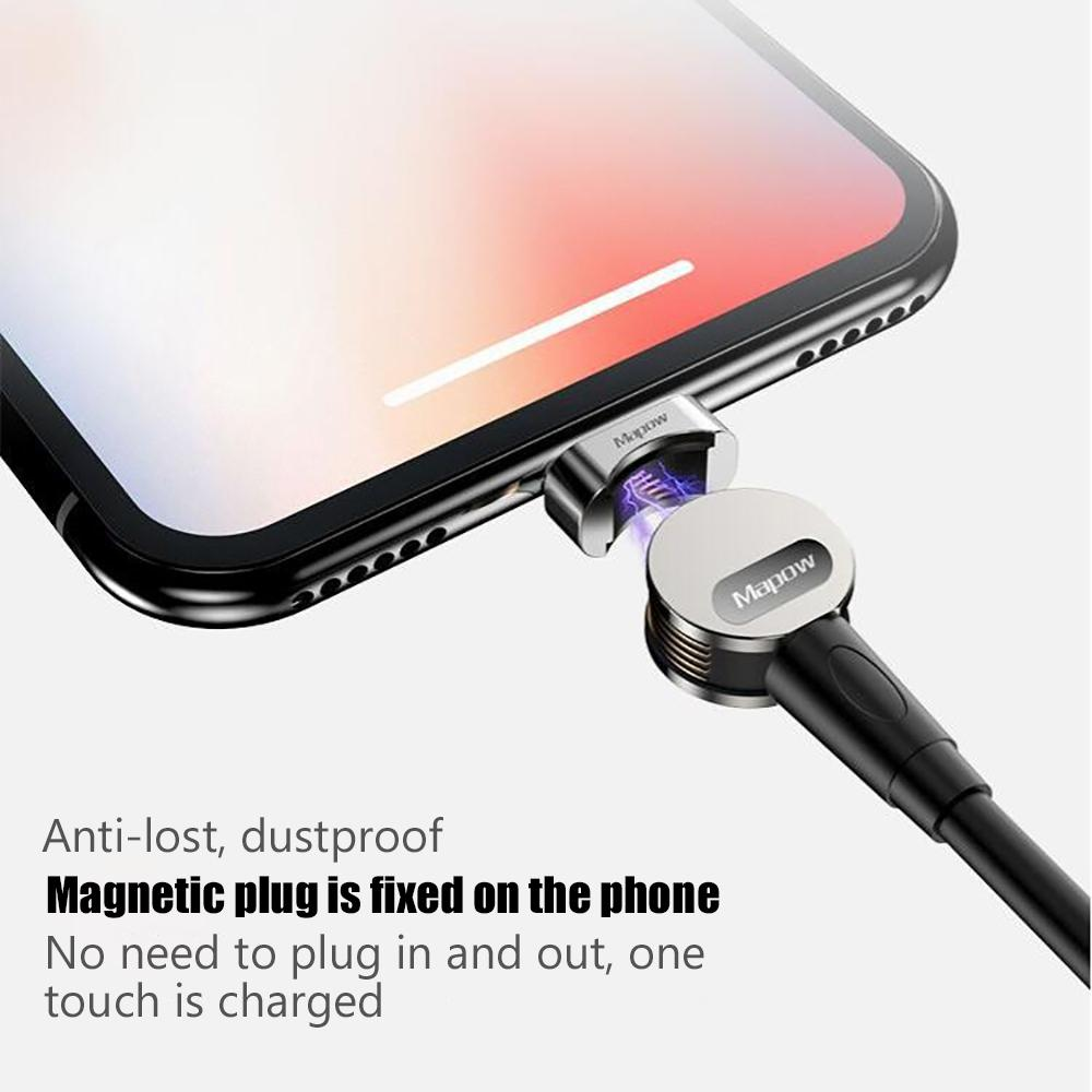 USB 180 degree rotation magnetic cable to fast charging sync data  transmission for iPhone/Huawei/Samsung iOS/Android/type-C Magnetic charging  cables