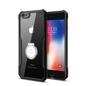 Shockproof Airbag With Ring Transparent Phone Case for iPhone 6/6s 6P/6sp 7/8 7/8Plus X XS XR XS Max