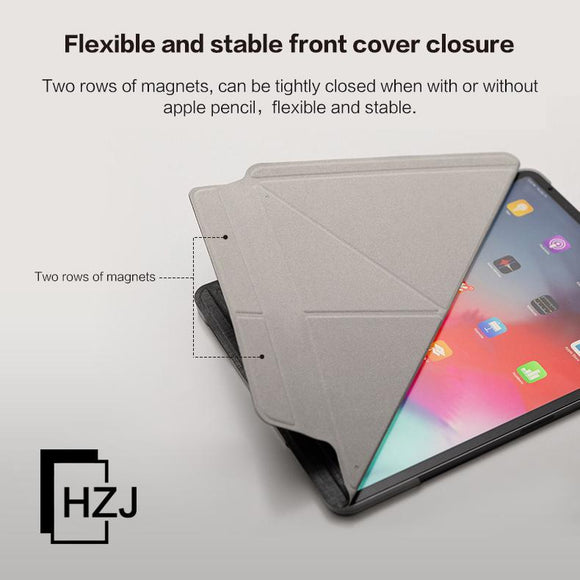 Leather Magentic Multi-angle folding Smart Cover Soft TPU Back Protective Case for iPad 2/3/4  mini 1/2/3/4/5  iPad Air 1/2  ipad pro 9.7(2016/2017/2018)/10.5/11
