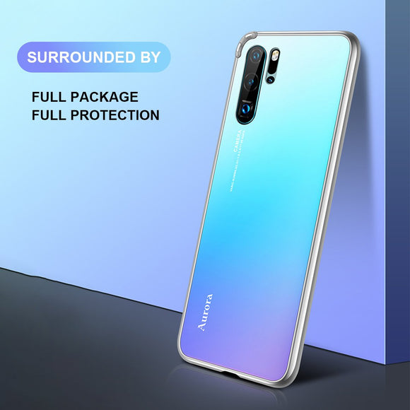 Aurora color Tempered glass back phone case for Huawei P30 /P30 Pro