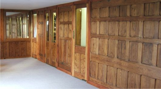 wooden panelling for interior walls