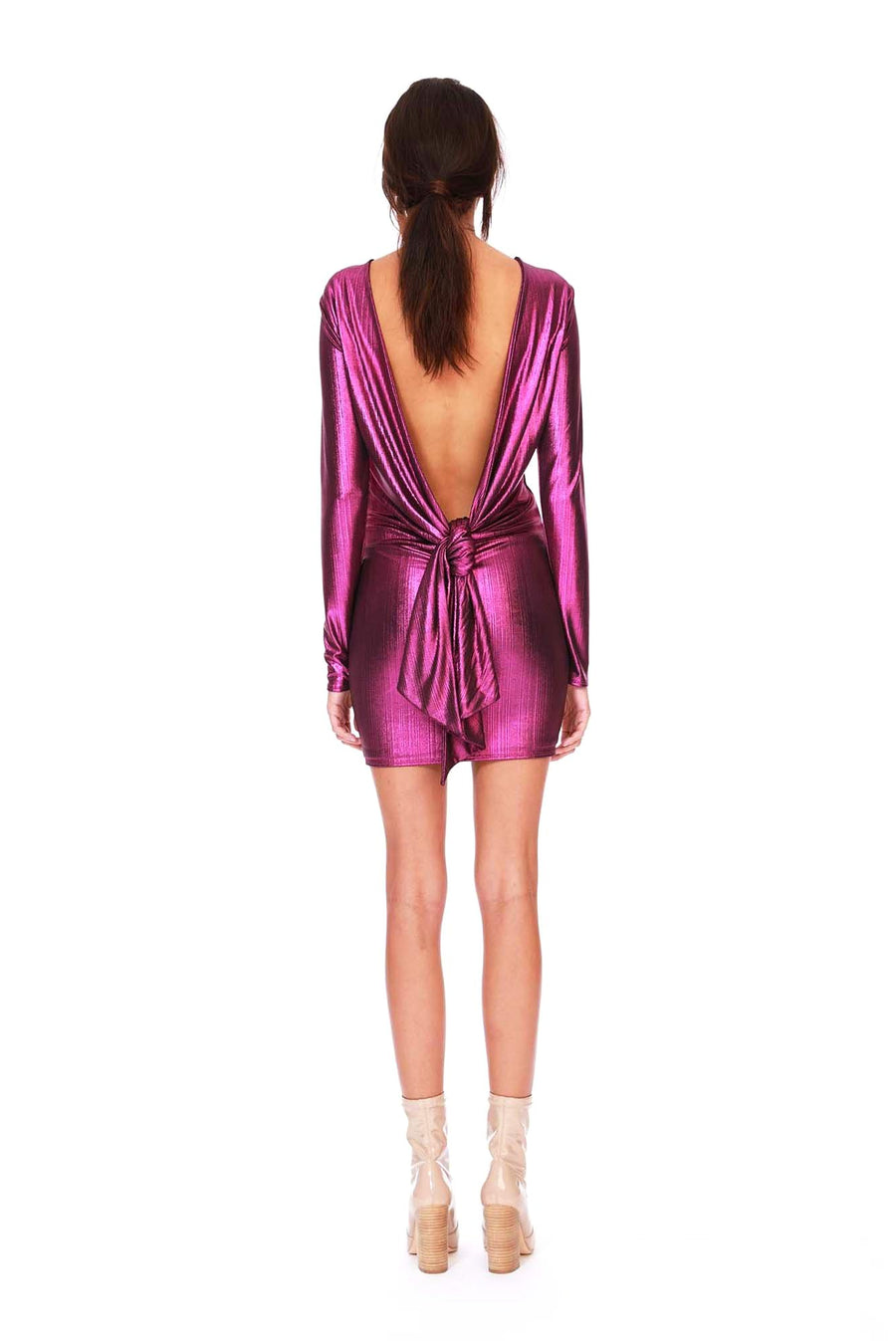 Bertie Dress - Magenta Foil