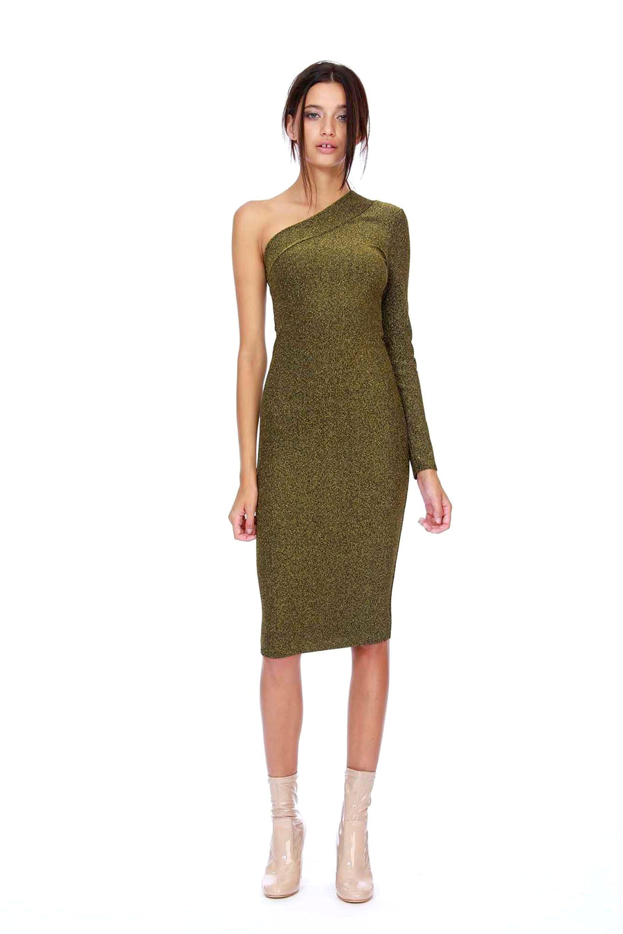 Brandi Dress - Gold Lurex