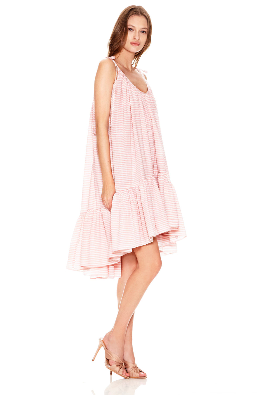 Diana Dress - Pink/White
