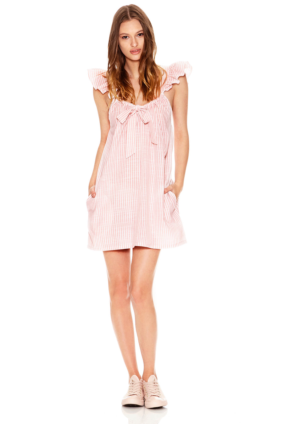 Evelyn Dress - Pink/White