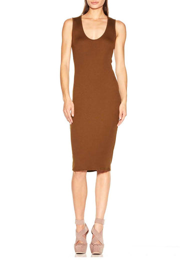 Kimmie Dress - Brass Rib