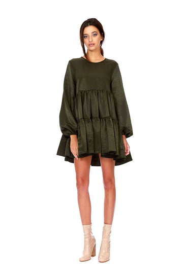 Kitty Dress - Olive Taslon