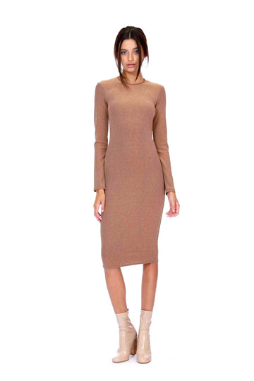 Rene Dress - Rosegold Lurex
