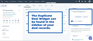 Duplicate Deal Add-on for HubSpot - Unlimited Users 1 Portal BETA
