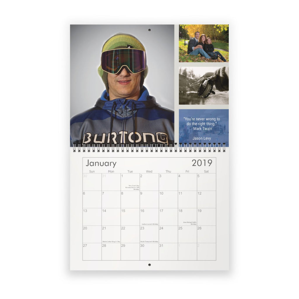 Revenue River Team Calendar - January