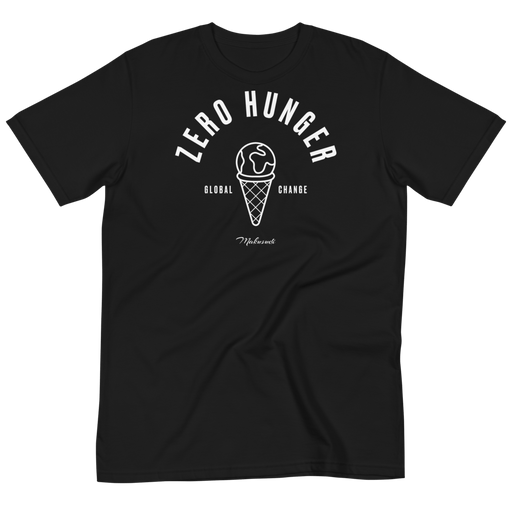 Goal 2 Zero Hunger Black T-Shirt from makusudi and Kevue.com