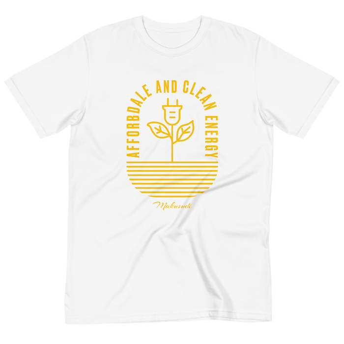 Goal 7 Affordable and Clean Energy T-Shirt from makusudi and Kevue.com
