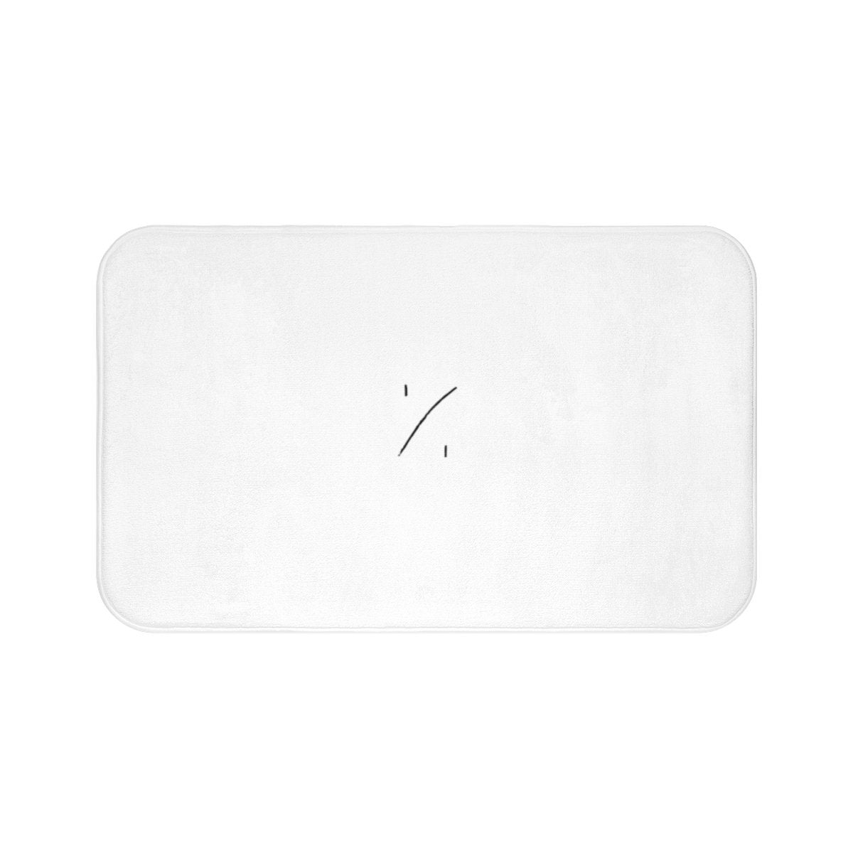 "White ""Self - Title"" Bath Mat"
