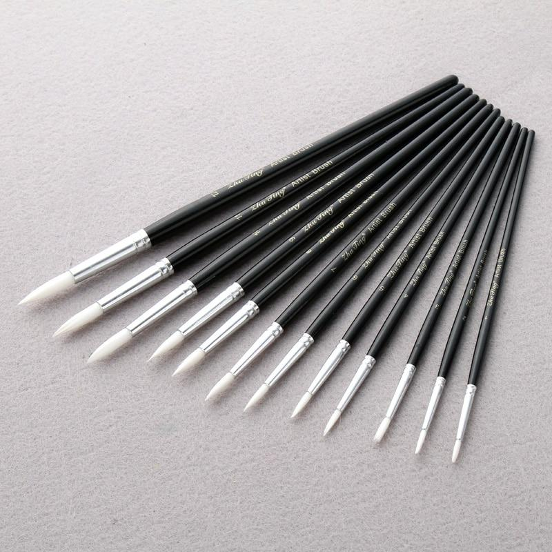 Paint Brush 12Pcs Different Sizes - Aeryk Studio