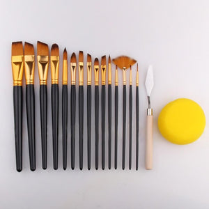 Paint Brush 17Ppcs Kit