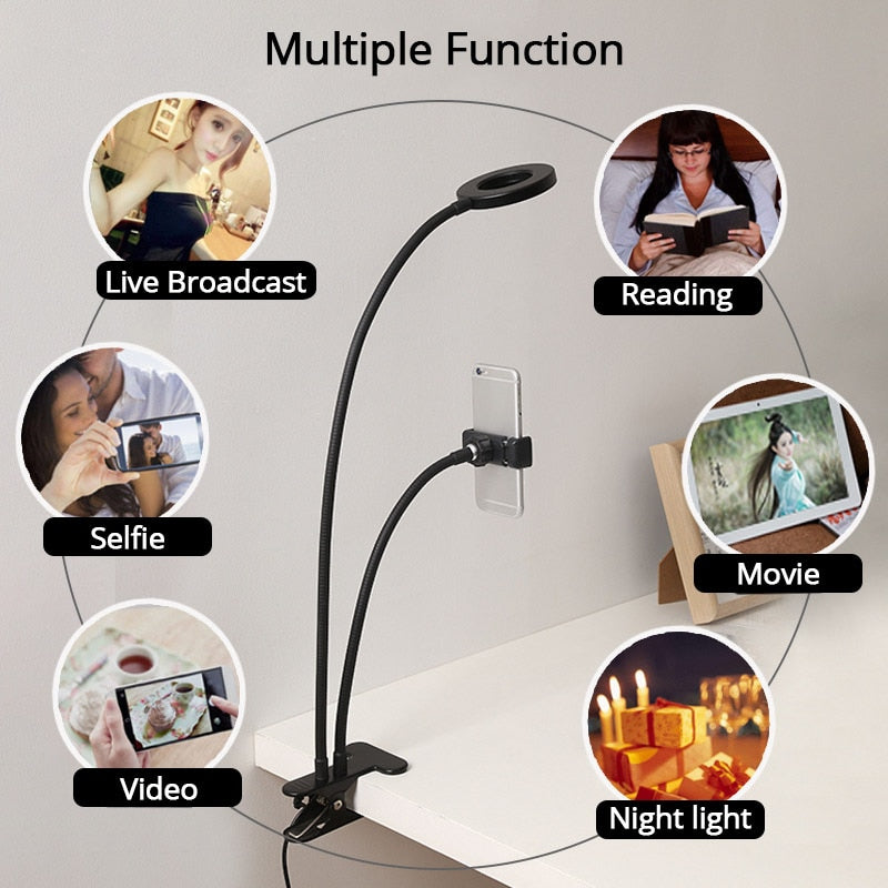 Studio Selfie Ring Light Phone Holder