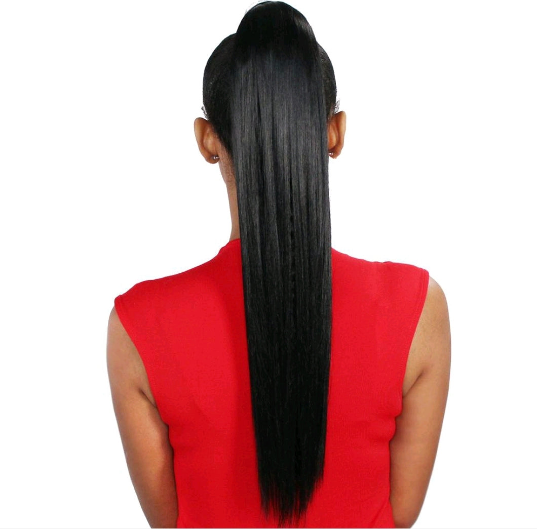 Wrap Ponytail- Silky Straight 24
