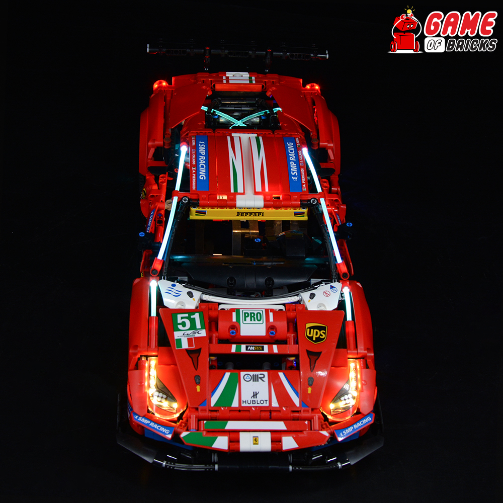 "LEGO Ferrari 488 GTE ""AF Corse #51"" 42125 Light Kit"