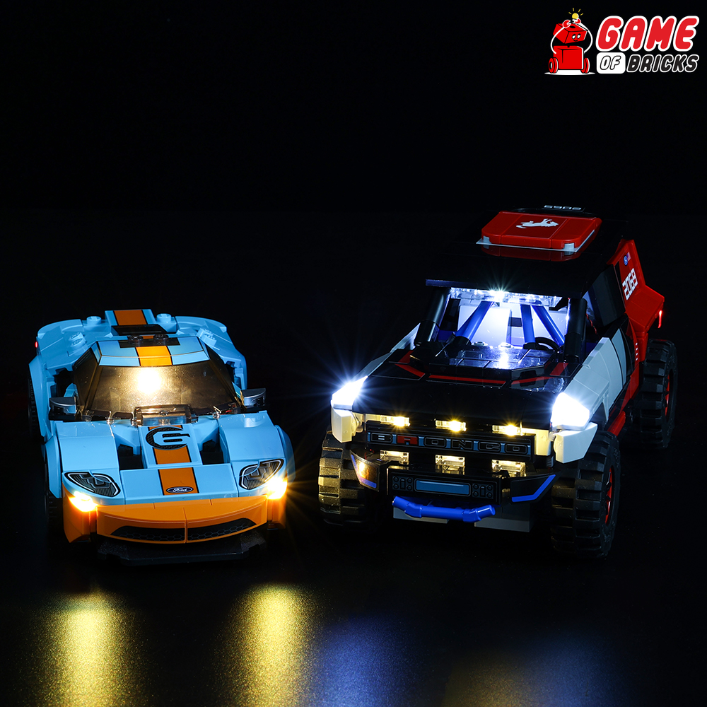 LEGO Ford GT Heritage Edition and Bronco R 76905 Light Kit