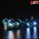 LEGO Jaguar Racing GEN2 car & Jaguar I-PACE eTROPHY 76898 Light Kit