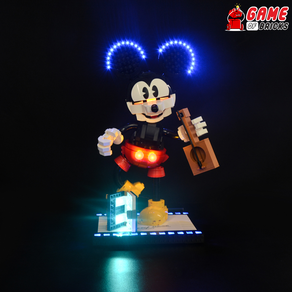 LEGO Mickey Mouse & Minnie Mouse Buildable Characters 43179 Light Kit