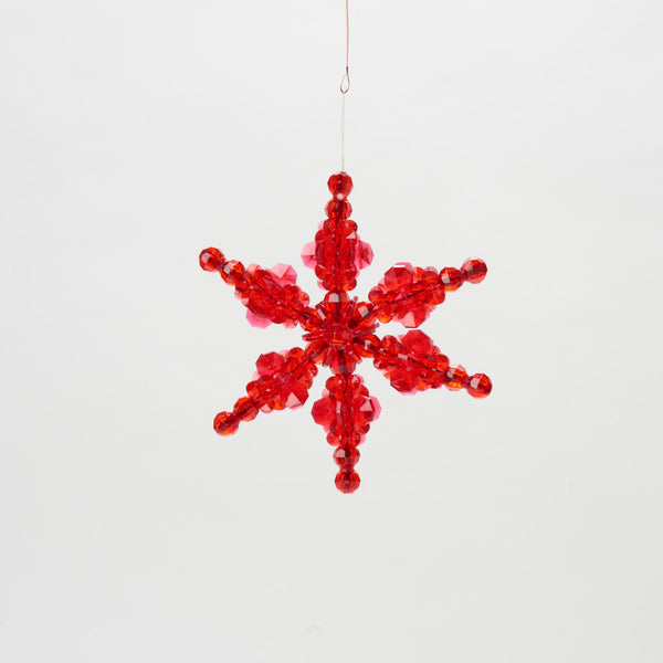 Red Beaded Star Ornament - Field Guide