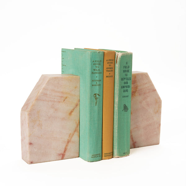 Pink Marble Bookends - Field Guide