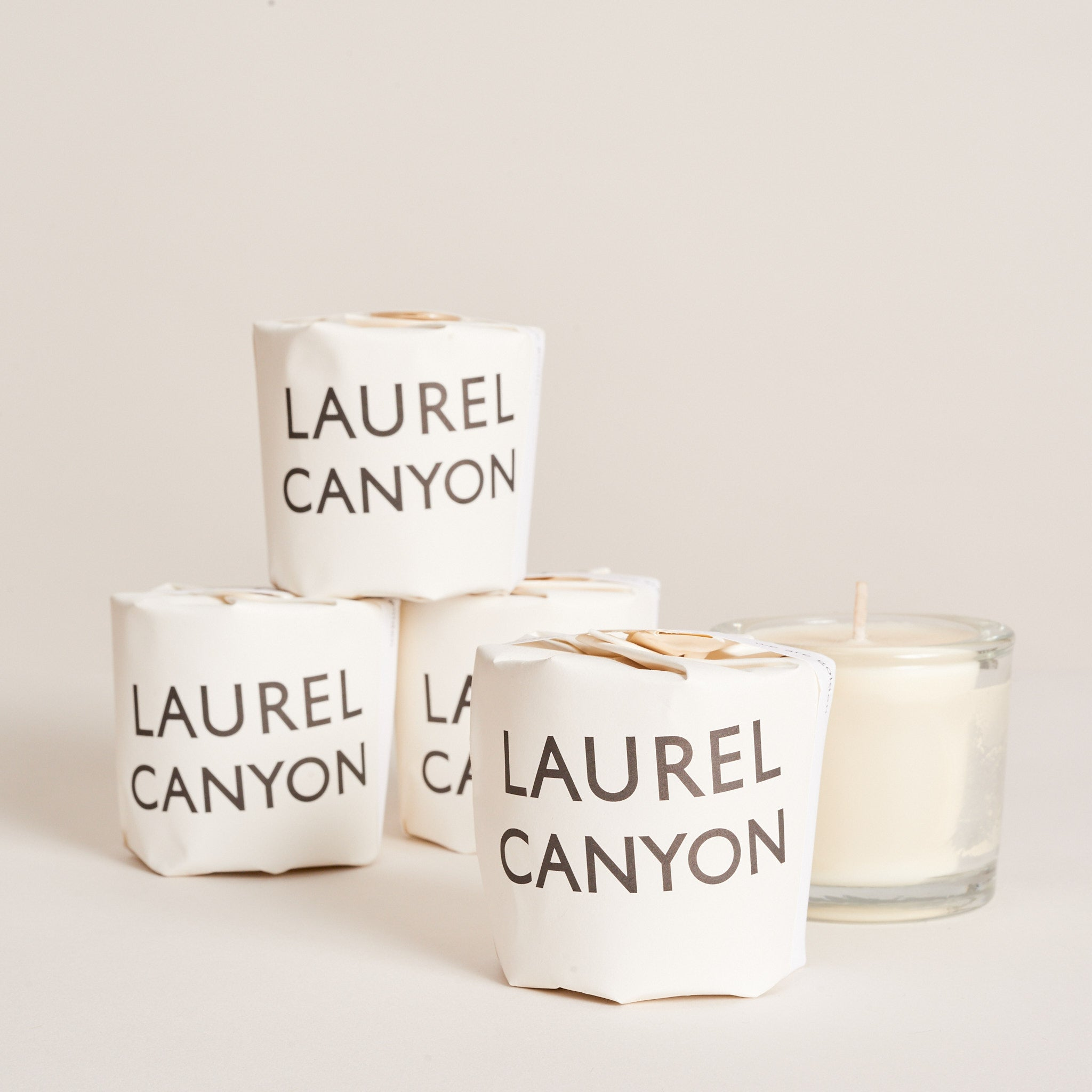 2 oz. handcrafted, hand-wrapped soy wax candle in recycled glassware.  Laurel Canyon is rich with notes of cannabis, wildflowers, apricots and suede. Approximately 16 hour burn time.  All cotton wicking. Pure soy/vegetable wax blend.2 oz. handcrafted, hand-wrapped soy wax candle in recycled glassware.  Love that Burns is earthy with notes of lemon and rose. Approximately 16 hour burn time.  All cotton wicking. Pure soy/vegetable wax blend.