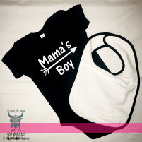 MAMA'S BOY ONESIE & BIB SET