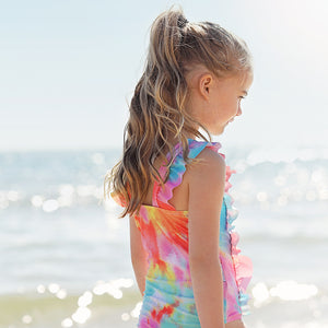Ruffle One Piece Swimsuit - Tie Dye Love Junior
