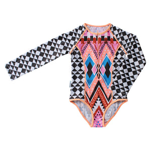 Long Sleeve Zip One Piece - Beach Tribe Senior