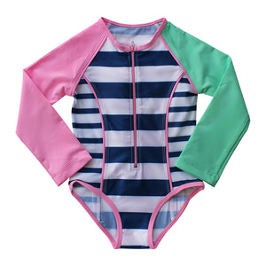 Long Sleeve Zip One Piece - Girls Sport Junior