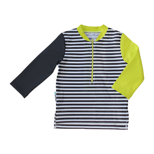 Long Sleeve Zip Rashie - Hot Tropics Junior